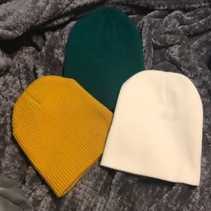 NEW w/o tags pack of three beanies!